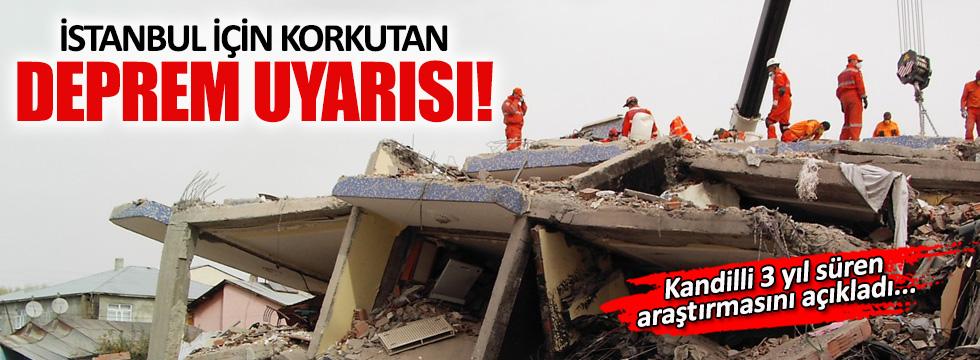 Kandilli İstanbul için uyardı: 7 büyüklüğünde deprem olabilir