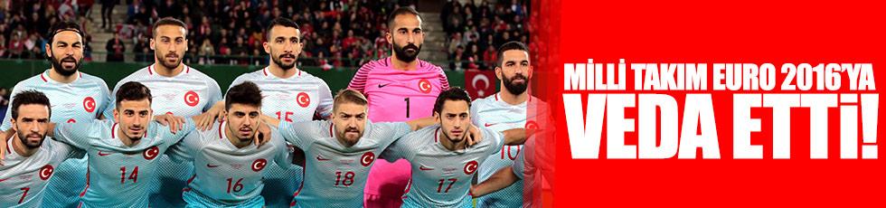 Milli Takım EURO 2016'ya veda etti