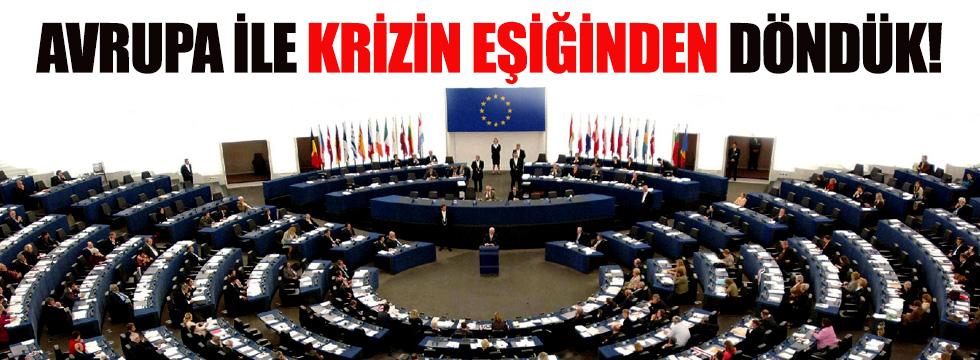 Türkiye, Avrupa ile krizin eşiğinden döndü