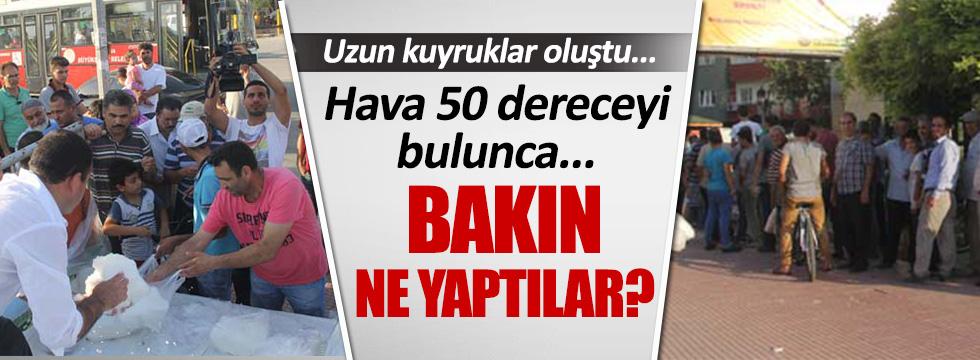 Adanalılar sıcak havalara böyle çözüm buldu!