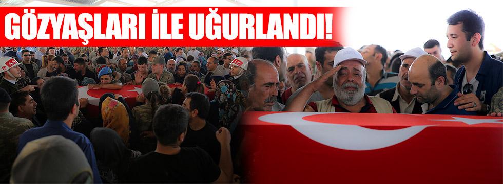 Şehit Uzman Çavuş Gaziantep'te son yolculuğuna uğurlandı