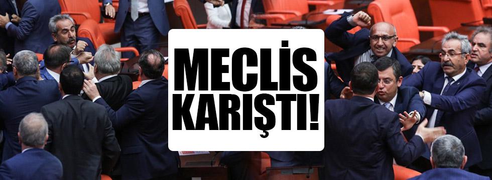 AK Parti ve HDP milletvekilleri birbirine girdi