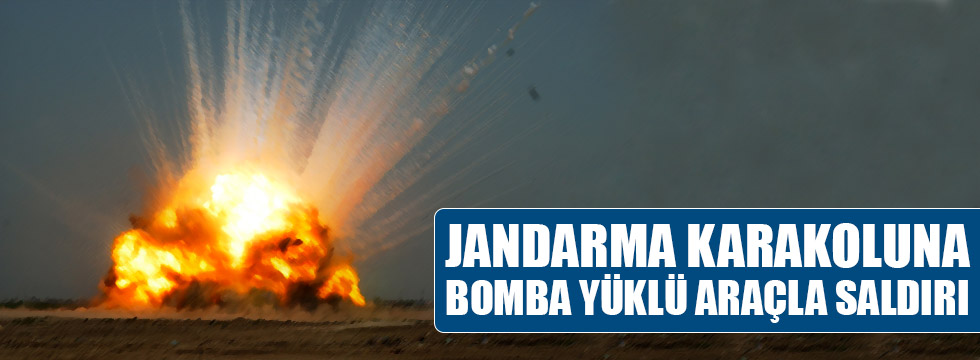 Jandarma karakoluna bomba yüklü araçla saldırı