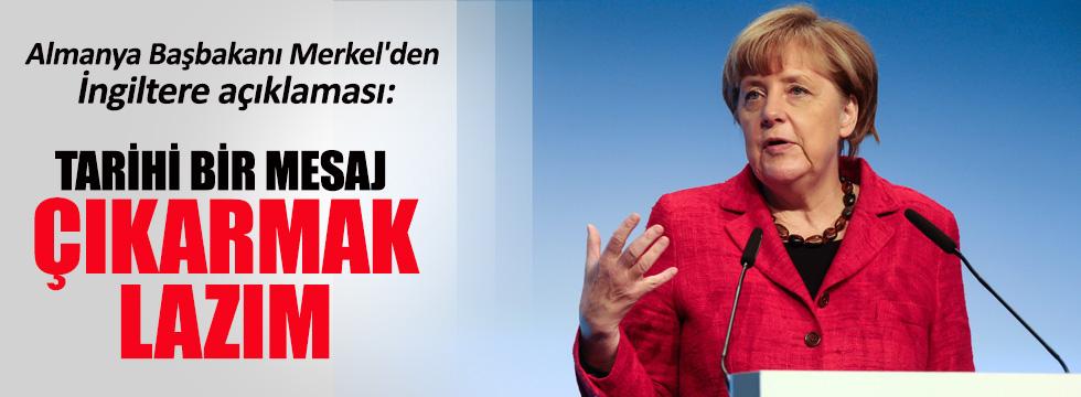 Merkel'den İngiltere açıklaması