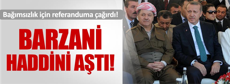 Barzani'den bağımsızlık referandumu çağrısı!