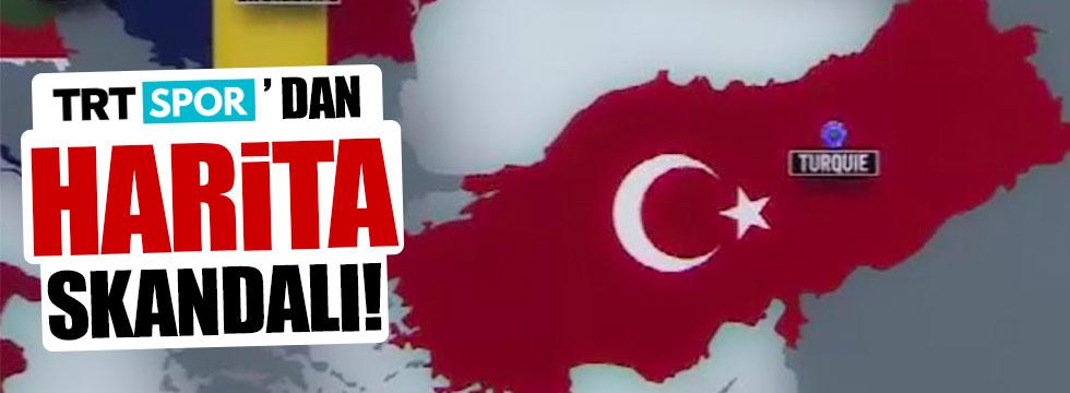 TRT Spor'dan harita skandalı