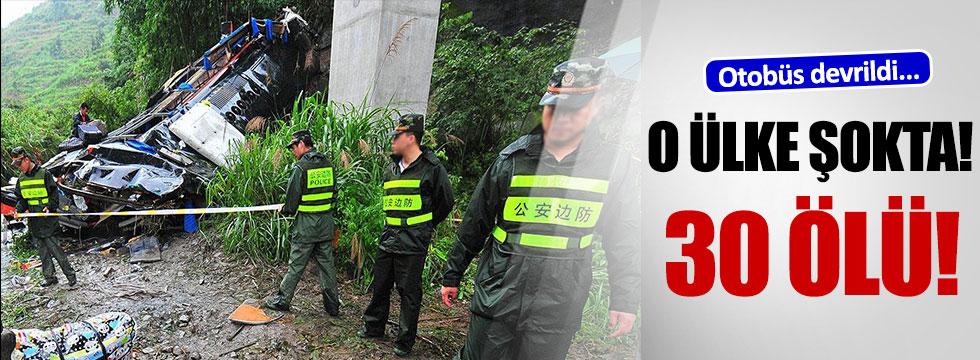 Çin'de feci kaza!