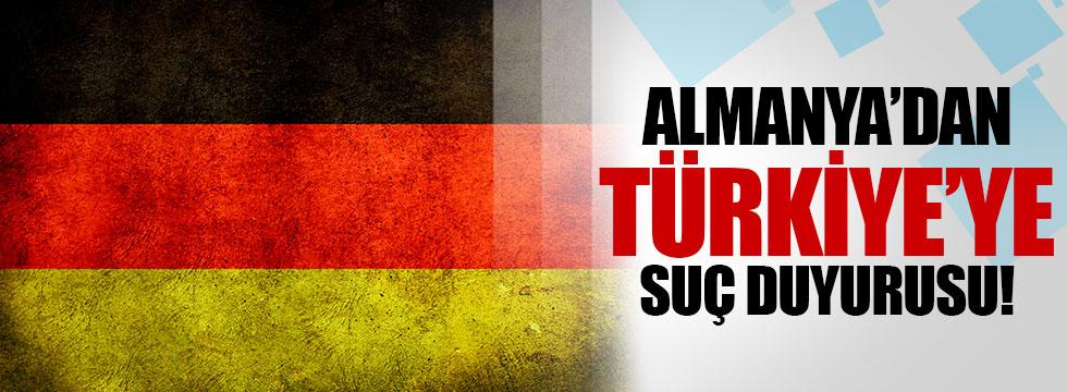 Almanya'dan Türkiye için suç duyurusu