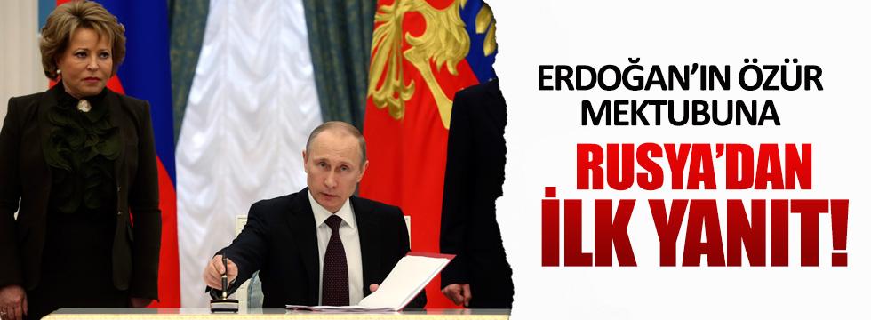 Rusya'dan Cumhurbaşkanı Erdoğan'ın mektubuna olumlu tepki