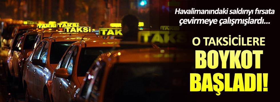 O taksicilere boykot başladı