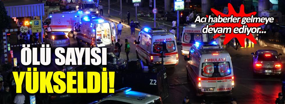 Atatürk Havalima'nı yapılan saldırıda ölen sayısı 44'e çıktı