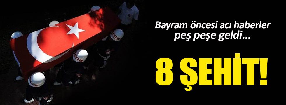 Mardin, Hakkari ve Bingöl'de 8 şehit!