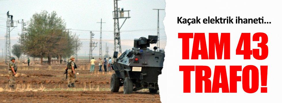 Şırnak'ta 43 kaçak trafo tespit edildi!
