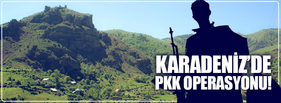 Karadeniz'de PKK sığınakları imha edildi