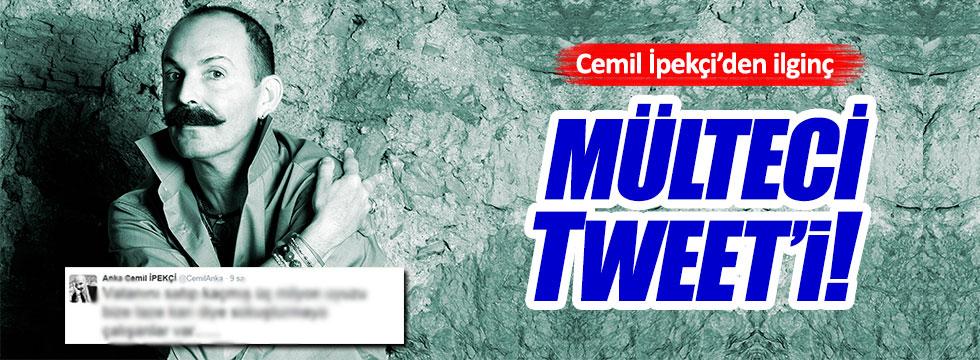 Cemil İpekçi'nin tweet'ine tepki yağdı!