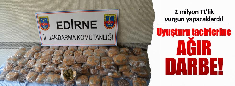 Edirne'de dev uyuşturucu operasyonu!