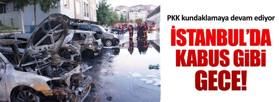 İstanbul'da araçları kundakladılar!