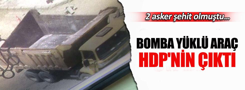 Karakol saldırısında kullanılan kamyon belediyenin çıktı