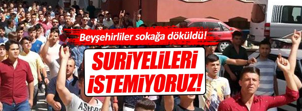 Beyşehirliler Suriyeliler için sokaklara indi!