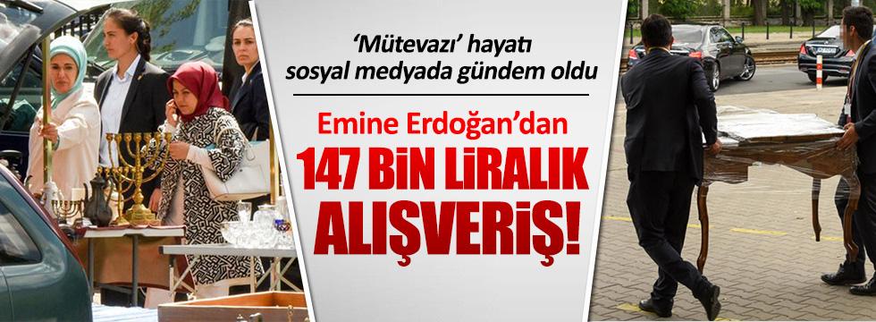 Emine Erdoğan'ın alışveriş masrafına sosyal medyadan tepki yağdı!