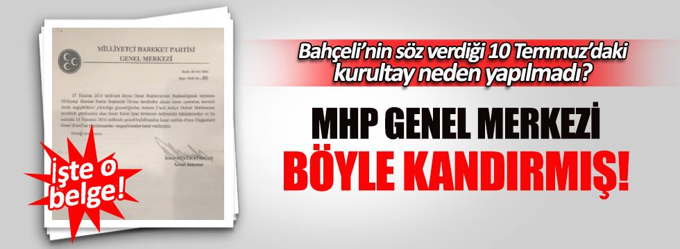 MHP Genel Merkezi ülkücüleri kandırmış!