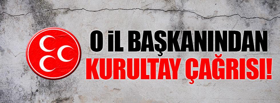 MHP Eskişehir İl Başkanı da kurultay çağrısı yaptı!