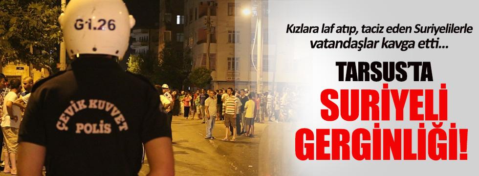 Tarsus'ta vatandaşlar ile Suriyeliler birbirine girdi