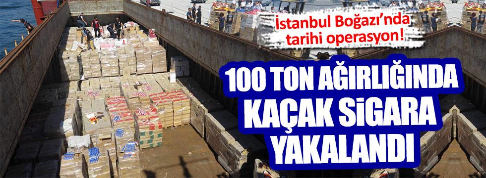 İstanbul Boğazı'nda sıcak saatler!