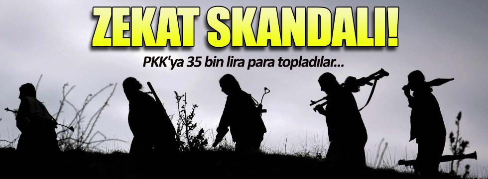 Zekat adı altında PKK'ya 35 bin lira para topladılar