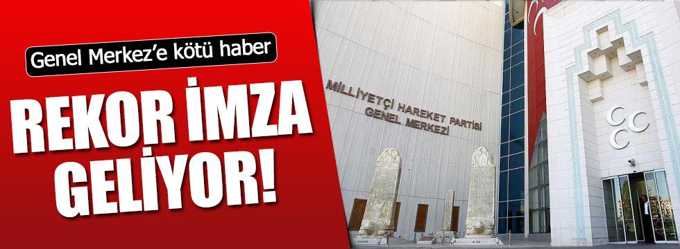 MHP'de imzalar toplanmaya başladı!