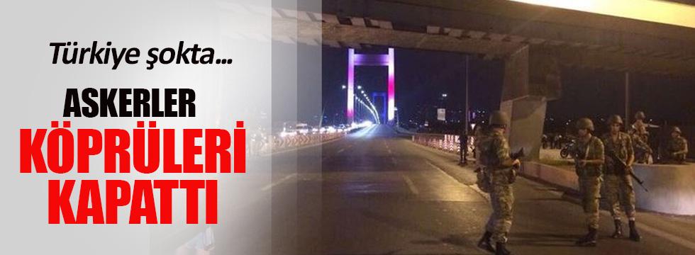 Asker FSM Köprüsü'nü trafiğe kapattı!