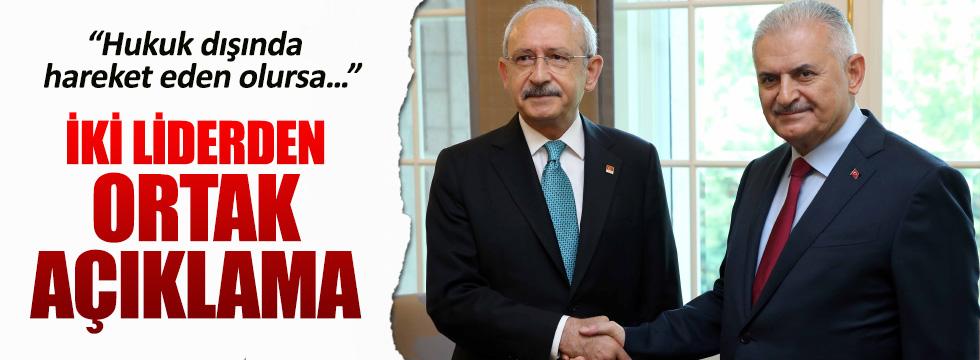 Başbakan ve CHP liderinden ortak açıklama