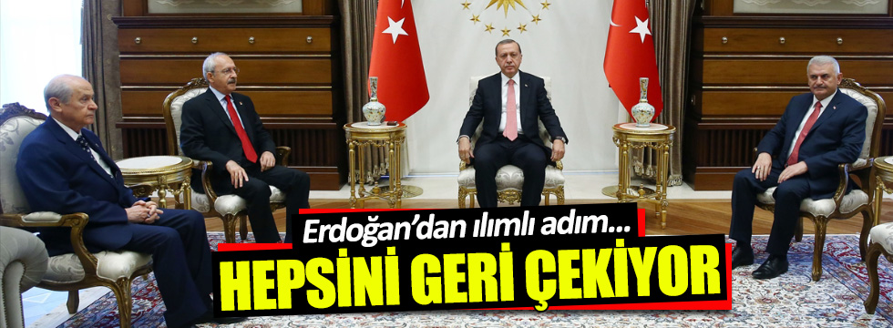 Erdoğan, muhalefet liderlerine açtığı davaları geri çekiyor