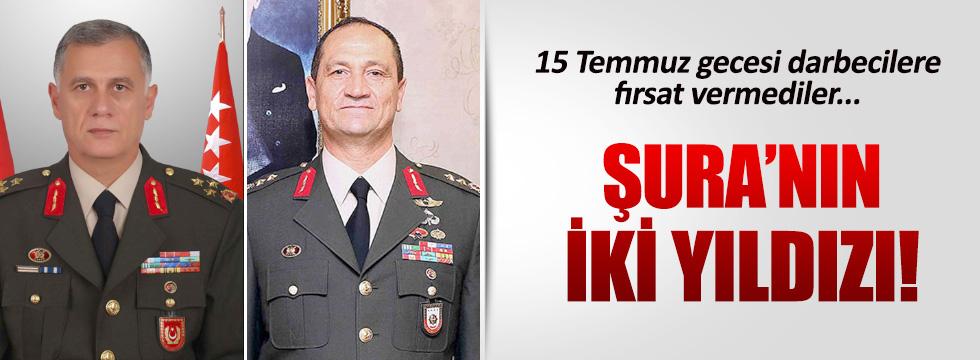 1. Ordu Komutanı Ümit Dündar ve Korg. İsmail Metin Temel'in yıldızı parladı