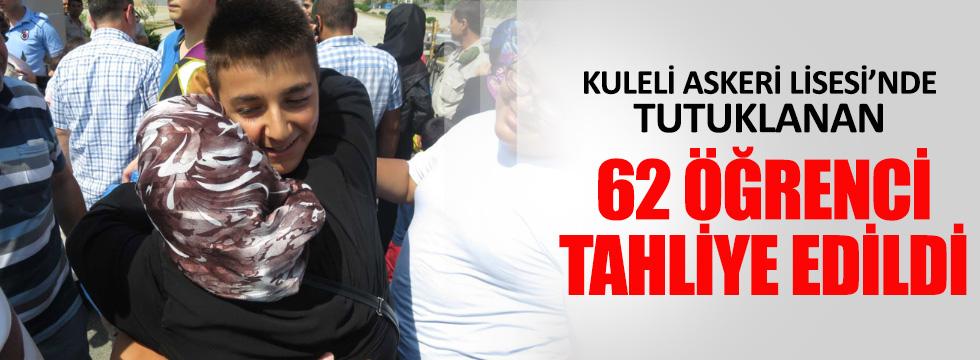Tutuklanan 62 öğrenci tahliye edildi