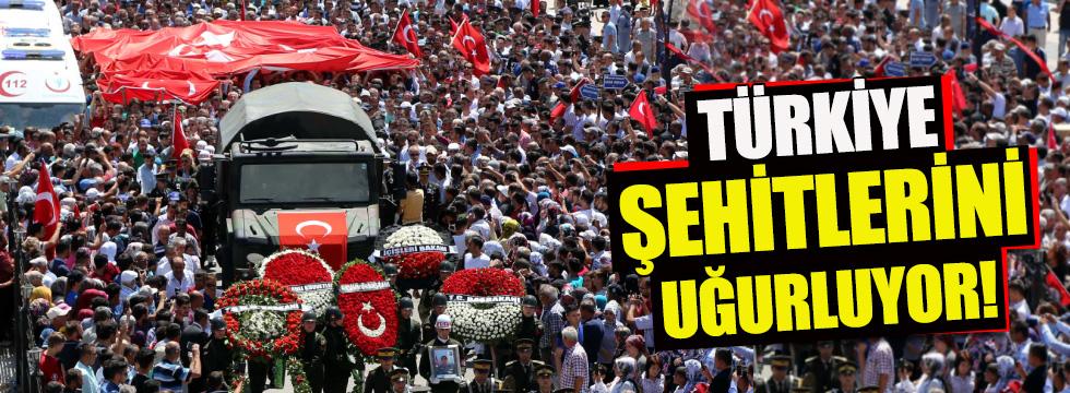 Türkiye Ordu şehitlerini uğurluyor...