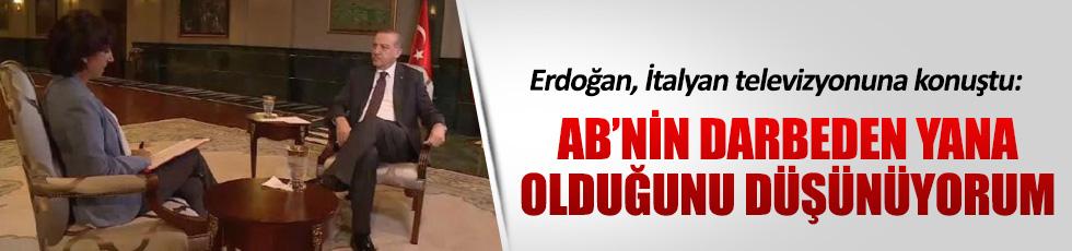 Erdoğan, İtalyan televizyonuna konuştu