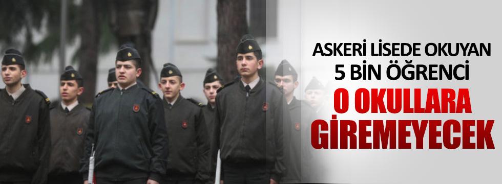 Askeri liseye giden öğrenciye fen ve sosyal bilimler lisesi yok