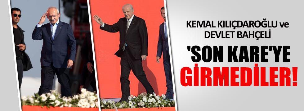 Kılıçdaroğlu ve Bahçeli son kareyi vermedi!