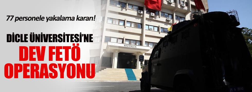 Dicle Üniversitesi'ne büyük operasyon! 77 gözaltı