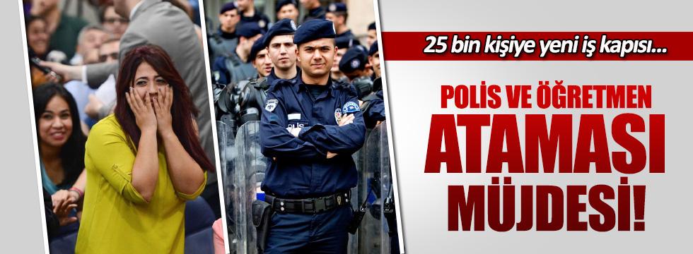 Başbakan Binali Yıldırım'dan 15 bin öğretmen, 10 bin polis müjdesi