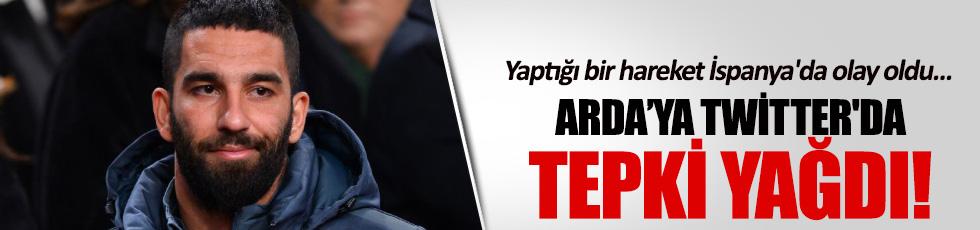 Arda Turan'a twitter'da tepki yağdı
