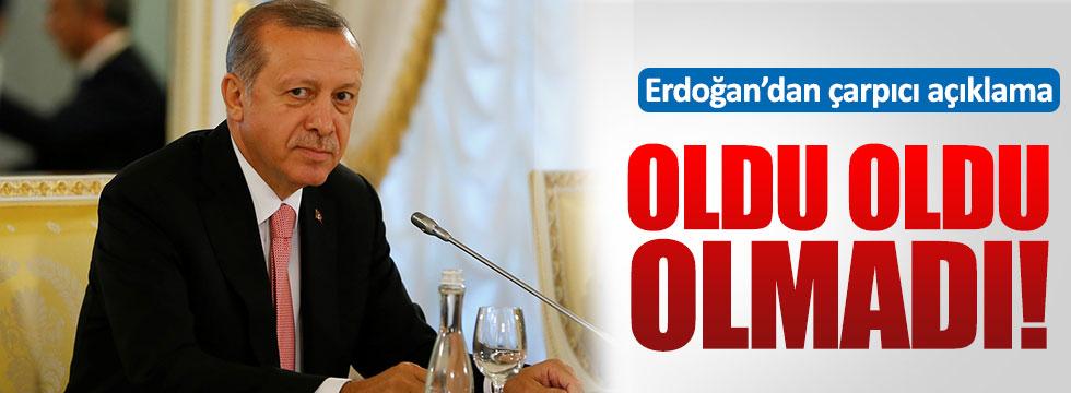 Erdoğan: Geri kabulü yapmayız