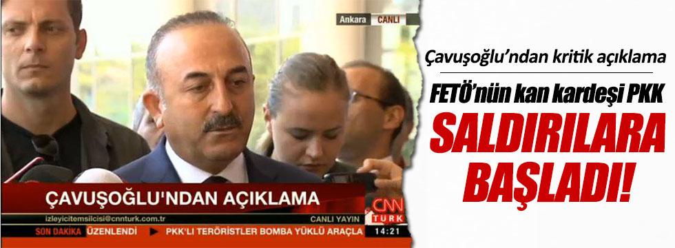 Çavuşoğlu: FETÖ'nün ikiz kardeşi PKK