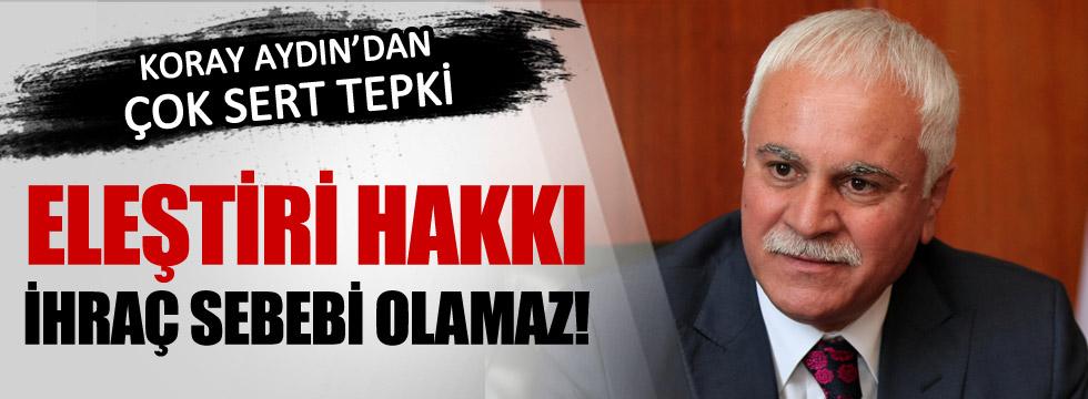 Koray Aydın'dan disiplin girişimine tepki