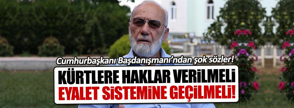 Cumhurbaşkanı Başdanışmanı Kürtler için özerklik istedi!
