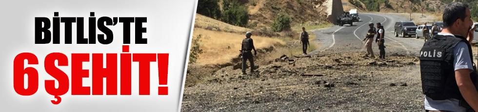 Bitlis'te askere hain saldırı! 6 şehit
