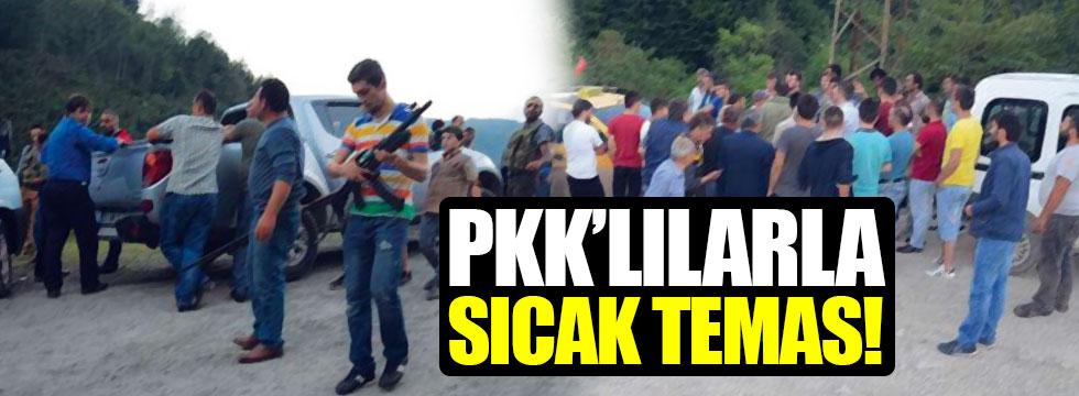 Ordu'da PKK'lı teröristlerle sıcak temas