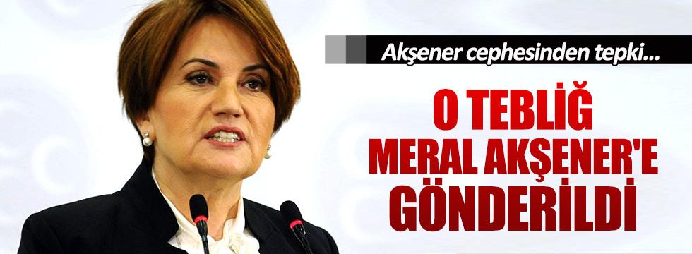 MHP, Meral Akşener'e tebliğ gönderdi