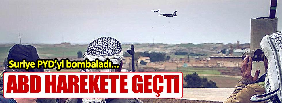 Suriye YPG'yi Vurdu, ABD tepki Gösterdi!